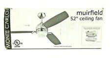 """Monte Carlo 3MUR52RBD Muirfield 52"""" Wobble Free 3 Blade Ceiling Fan Roman Bronze"""