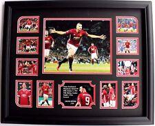 Zlatan Ibrahimovic Signed Manchester United Limited Edition Memorabilia Framed