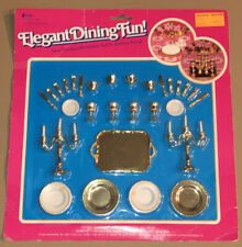 Creata 1986 ELEGANT DINING FUN! 1:6 Scale (Barbie) GOBLETS Chargers CANDELABRAS+