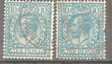 Great Britain Sc# 199 x 2 Used Cat Val $ 90 gtc7