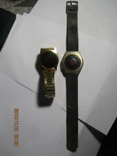 watch lot of 2 Men's Timex led watches  for parts/repair #80-100