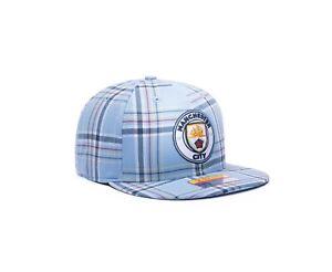 "Manchester City Flat Brim Snapback Hat ""Hooligan"" Officially Licensed Fan Ink"