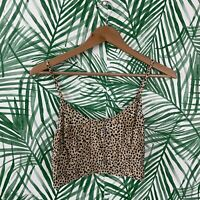 Urban Outfitters Cheetah Leopard Crop Tank Top Women's Size Large