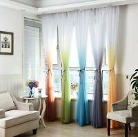 Tulle 3D Ombre Printed Living Room/ Door/ Window/Kids Curtains