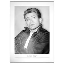 James Dean Looking Up Poster. 50s Movie Icon Print Wall Decor