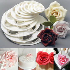 DIY Fondant Cake Rose Flower Decorating Cookie Mold Gum Paste Cutter Tool New 25