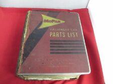 62 63 Lancer Dart Dodge Passenger Car Mopar Master Parts Catalog Good Used