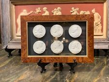 """Framed French Grand Tour Intaglio Cameo Arrangement """"The Six Kings of France�"""