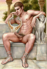 """Hand Oil painting art""""male nude""""on canvas20X28"""""""