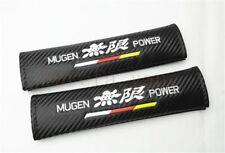 2Pcs Mugen Power Carbon Fiber Car Seat Belt Cushions Shoulder Pads For CR-V Fit