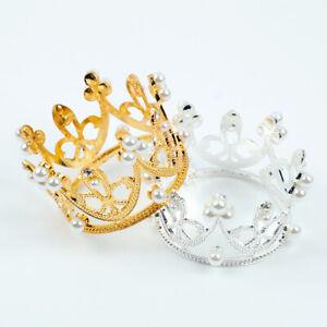 1pcs Mini Crown Princess Cake Topper for Wedding Birthday Party Cake Decoration