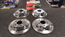 BMW 1 Series 2004-11  -120i E82 CROSS DRILLED GROOVED BRAKE DISC FRONT REAR PADS