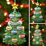 Personalised Family Christmas Tree Xmas Decoration Ornament - Trees 3,4,5 to 8