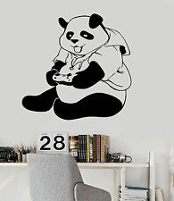 Vinyl Wall Decal Panda Gamer Teen Room Video Game Stickers (ig3946)