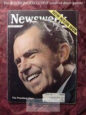 NEWSWEEK November 11 1968 Nov 68 11/11/68 PRESIDENT-ELECT RICHARD NIXON