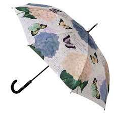 CLIFTON Umbrella - Modern Vintage Collection - BLUE HYDRANGEA - Auto Full Size