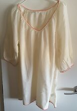MONSOON BEIGE BEACH TOP WITH CORAL TRIM size M