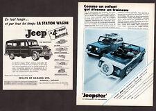 1956-67 JEEP Jeepster & Station Wagon 2 Vintage Original small Print AD Canada