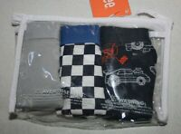 New Gymboree Boys 3 Pack Briefs Underwear size 4 year NWT Race Car Themed