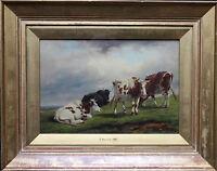 THOMAS BAKER LEAMINGTON  BRITISH LANDSCAPE OIL PAINTING CATTLE 1809-1864