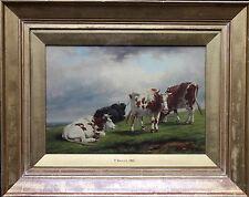 THOMAS BAKER LEAMINGTON 1809-1864 BRITISH LANDSCAPE OIL PAINTING ART CATTLE 2