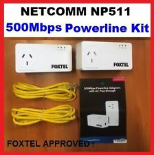BRAND NEW NETCOMM NP-511 POWERLINE ETHERNET ADAPTER KIT AC FAST POST