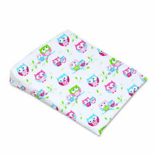 BABY PILLOW COVER FOR WEDGE PILLOW COT/TODDLER BED PILLOWCASE 59x37cm Owls White