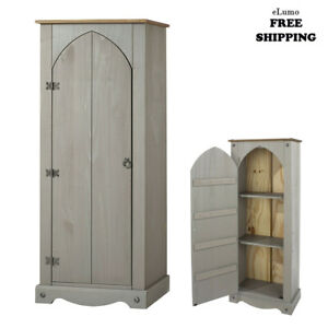 Free Standing Kitchen Pantry Tall Cabinet Storage Unit Cupboard Larder Vestry Uk