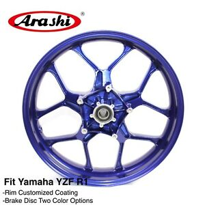 For YAMAHA YZF R1 1000 2015 2016 2017 YZF-R1 Motorcycle CNC Front Wheel Rim Blue