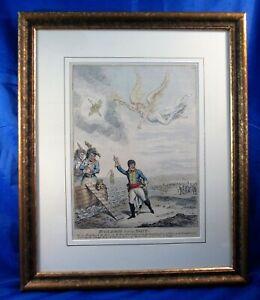 Buonaparte leaving Egypt - James Gillray. Antique print. Napoleon interest.
