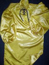 "Vintage: Satin! ""Special� High Gloss Gold Bridal Satin Balloon Shirt Gown"