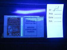 variété  Marianne Luquet 1f orange + vignette fort éclat phosphore NUM: 3101a **