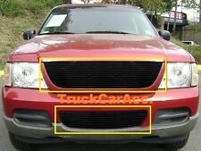For FORD Explorer 2002-2005 2PC Black Grille REPLACEMENT Combo w/o Logo Show