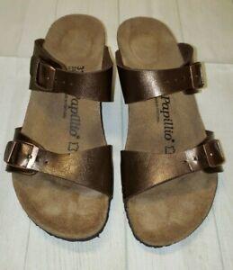 Papillio Birkenstock Dorthy Womens Brown Strappy Wedge Sandal EU 37 US 6.5-7