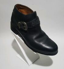 Ariat Western Ankle Boots Silver Buckle Black leather US 6b