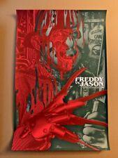 New listing Anthony Petrie Freddy vs. Jason Signed Poster - Bottleneck & Mondo Artist