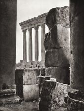 1934 Vintage 11x14 LEBANON ~ Baalbek Temple Jupiter Ruins Architecture Photo Art