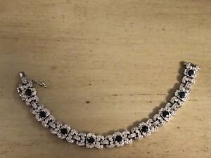 Sapphire and Diamond Set Bracelet