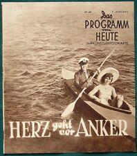 Herz geht vor Anker - orig 1940 German Film Program