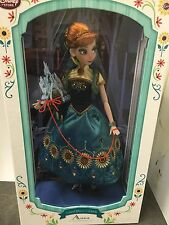 """Disney Frozen Fever Anna 17"""" Limited Edition 5000 Doll"""