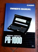 Manual - Casio Owner's Manual - Personal Computer PB-1000
