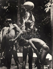 1930's Vintage CEYLON Sri Lanka 3 SEMI NUDE MALES Bathing Photo Art LIONEL WENDT