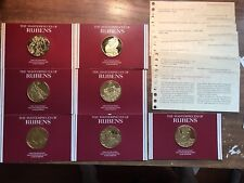 Rubens Masterpieces Franklin Mint 7pc 24k Gold Plated Sterling Coin Set! Rare***