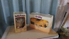 Vintage 1985 Teddy Ruxpin & Grubby working! In original boxes 1 tape