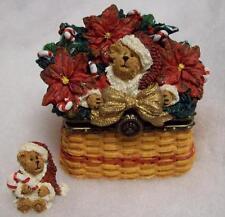 Boyds Longaberger Treasure Box, Ho Ho Sparklebeary, Christmas Traditions Basket