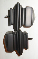 BLACK resin SQUARE FINIALS for curtain ROD draperies pair F213