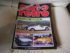 AUTO RETRO MOTO n° 61 de 1985 très bon état MORGAN FACELL II SIMCA 1200 S coupé