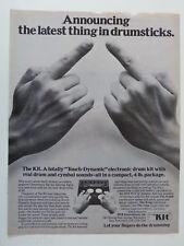 retro magazine advert 1982 MXR THE KIT drum machine