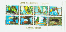 Umm Al Qiwain Briefmarken Block Exotische Vögel