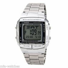 Casio DB360-1 Mens Multi Lingual Silver Stainless Steel Digital DATABANK watch